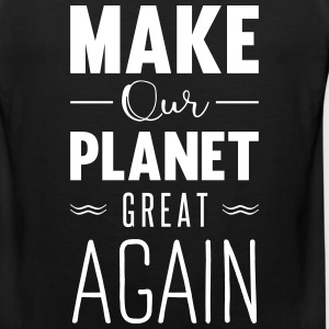 make our planet great again Sportsklær - Premium singlet for menn