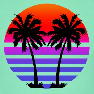 Gradient Palm Trees T-Shirts - Men's T-Shirt