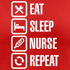 Eat Sleep Nurse Repeat T-Shirts - Frauen T-Shirt atmungsaktiv