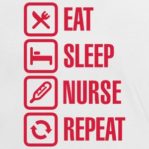 Eat Sleep Nurse Repeat Tee shirts - T-shirt contraste Femme