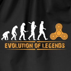 Fidget spinner - evolution of legends Bags & Backpacks - Drawstring Bag
