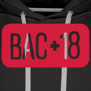 bac plus 18 logo baccalaureat 9 Sweat-shirts - Sweat-shirt à capuche Premium pour hommes