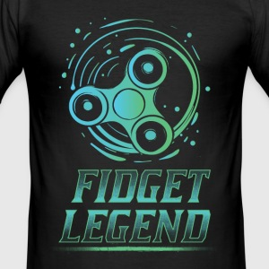 Fidget Legende - Fidget Spinner T-Shirts - Männer Slim Fit T-Shirt