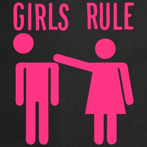 girls rule citation couple humour femme Tabliers - Tablier de cuisine