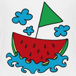 Melon, boat, ship, water-melon, summer, cloud Shirts - Kids' Premium T-Shirt