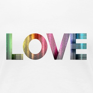 Love is everywhere T-shirts - Dame premium T-shirt