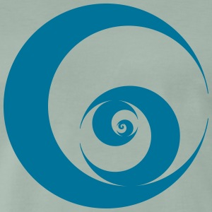 Wave, Vortex, circle, swirl, surfing, seem, sea.  T-Shirts - Men's Premium T-Shirt
