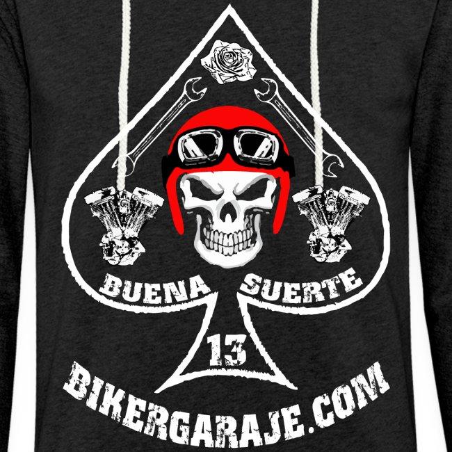 Sudadera Buena suerte/Good Lucky for bikers