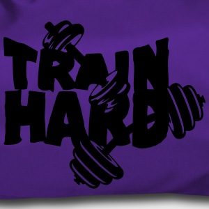train hard citation musculation haltere  Sacs et sacs à dos - Sac de sport