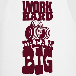 work hard citation dream big musculation Tabliers - Tablier de cuisine