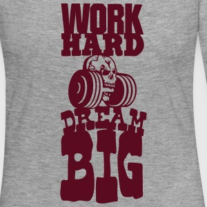 work hard citation dream big musculation Manches longues - T-shirt manches longues Premium Femme