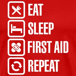 Eat Sleep First Aid Repeat T-Shirts - Männer Premium T-Shirt