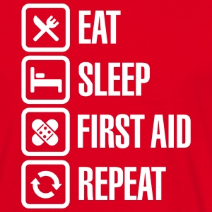 Eat Sleep First Aid Repeat Tee shirts - T-shirt Homme