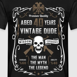 Aged 40 Years Vintage Dude T-Shirts - Men's T-Shirt