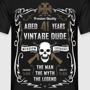Aged 41 Years Vintage Dude T-Shirts - Men's T-Shirt