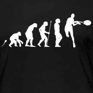 Tennis Evolution Fun Shirt Langarmshirts - Frauen Premium Langarmshirt