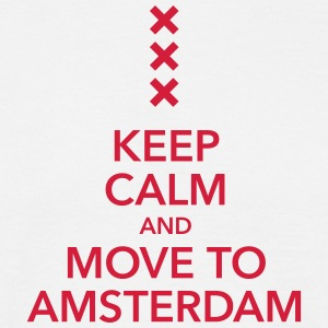 keep calm move to Amsterdam Holland Kreuz Cross - Männer T-Shirt