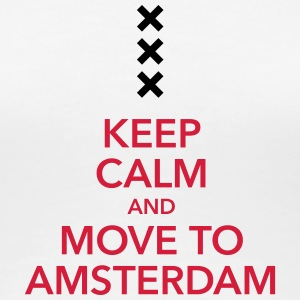 keep calm move to Amsterdam Holland Kreuz Cross - Frauen Premium T-Shirt