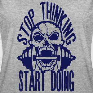stop thinking start doing citation muscu Tee shirts - T-shirt oversize Femme
