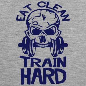 eat clean train hard citation musculatio Vêtements de sport - Débardeur Premium Homme