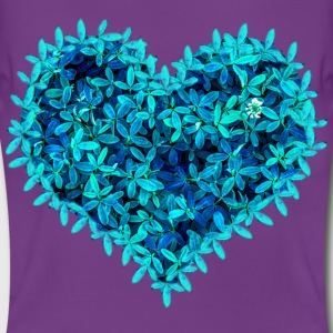Teal leafs heart - Women's T-Shirt