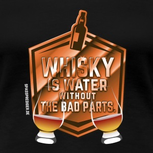 Whisky is water, Nosing Glas T-Shirts - Frauen Premium T-Shirt