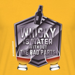 Whisky is water, Nosing Glas T-Shirts - Männer T-Shirt