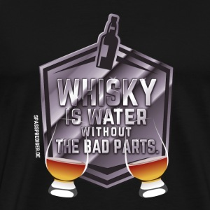 Whisky is water, Nosing Glas T-Shirts - Männer Premium T-Shirt