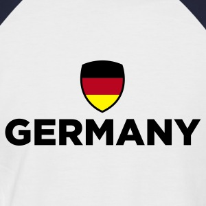 White/navy Germany Emblem Small 1 (3c, NEU) Men's T-Shirts - Men's Baseball T-Shirt