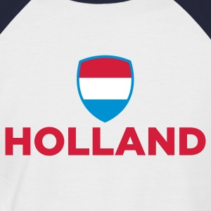 White/navy Holland Emblem Small 1 (3c, NEU) Men's T-Shirts - Men's Baseball T-Shirt