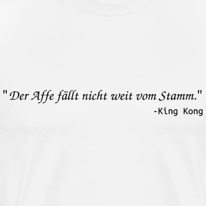 KIng Kong vs. Newton - Männer Premium T-Shirt
