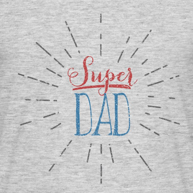 tee shirt super dad  // Men