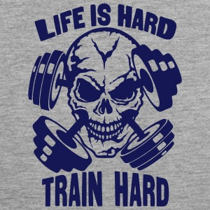 life hard train citation tete mort halte  Vêtements de sport - Débardeur Premium Homme