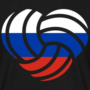 VolleyballFREAK Herz Russland MP T-Shirts - Männer T-Shirt