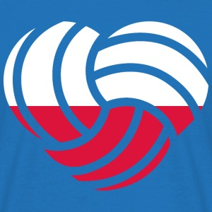 VolleyballFREAK Herz Polen MP T-Shirts - Männer T-Shirt