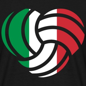 VolleyballFREAK Herz Italien MP T-Shirts - Männer T-Shirt
