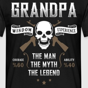 Grandpa The Man The Myth The Legend T-Shirts - Men's T-Shirt