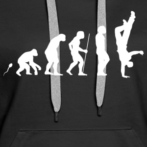 Breakdance Evolution Fun Shirt Pullover & Hoodies - Frauen Premium Hoodie