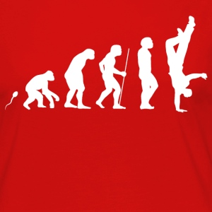 Breakdance Evolution Fun Shirt Langarmshirts - Frauen Premium Langarmshirt