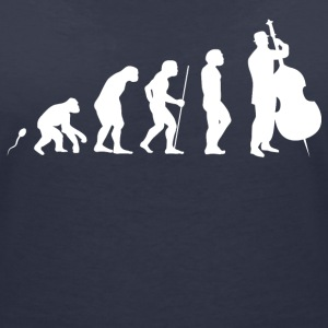 Cello Evolution Fun Shirt T-Shirts - Frauen T-Shirt mit V-Ausschnitt