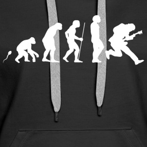 E Gitarre Evolution Fun Shirt Pullover & Hoodies - Frauen Premium Hoodie