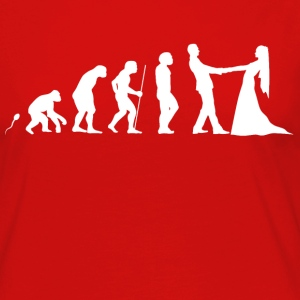 Heiraten Evolution Fun Shirt Langarmshirts - Frauen Premium Langarmshirt