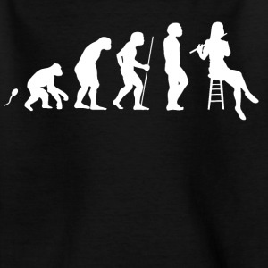 Querflöte Evolution Fun Shirt T-Shirts - Kinder T-Shirt