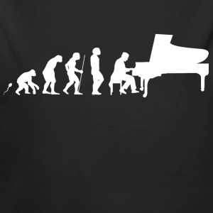 Pianist Evolution Fun Shirt Baby Bodys - Baby Bio-Langarm-Body