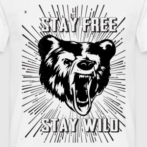 Stay Free Stay Wild T-Shirts - Men's T-Shirt