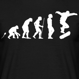 Skateboard Evolution Fun Shirt T-Shirts - Männer T-Shirt