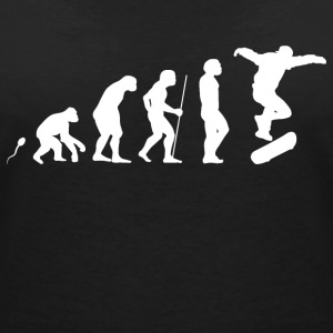 Skateboard Evolution Fun Shirt T-Shirts - Frauen T-Shirt mit V-Ausschnitt