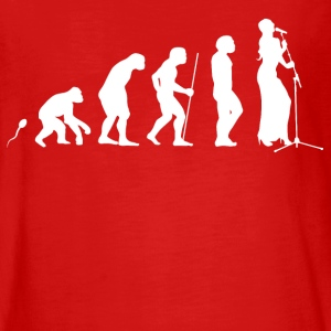 Singen Evolution Fun Shirt Langarmshirts - Teenager Premium Langarmshirt