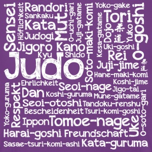 Judo Wortcollage white - Frauen T-Shirt