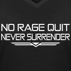 Never Surrender - T-shirt col V Femme